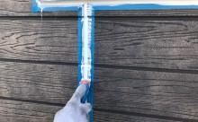愛知県西三河西尾市外壁塗装超低汚染遮熱シリコン塗装モカ外壁シーリング