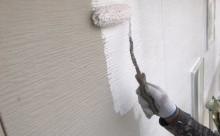 愛知県西三河西尾市外壁塗装超低汚染遮熱シリコン塗装モカ外壁下塗り