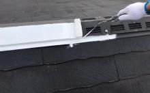 西三河西尾市屋根高反射遮熱塗装アドグリーンコートクールブラウン錆止め
