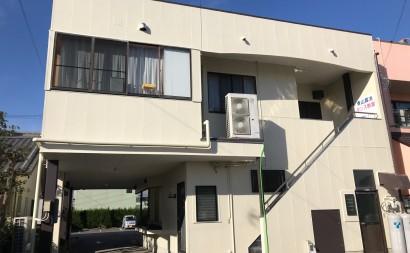 愛知県西三河東三河西尾市店舗外壁塗装屋根塗装外壁耐候性シリコン塗装屋根超低汚染遮熱シリコン塗装ニュートラルホワイト傷み汚れ割れクラック色褪せ欠け施工後