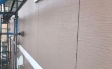 愛知県西三河西尾市外壁塗装超低汚染遮熱シリコン塗装モカ外壁完成