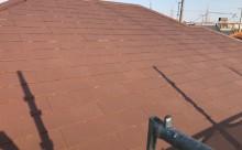西三河西尾市屋根高反射遮熱塗装アドグリーンコートクールブラウン屋根完成