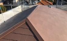 西三河西尾市外壁塗装超低汚染遮熱シリコン塗装モカ屋根塗装高反射遮熱塗装アドグリーンコートクールブラウン施工後屋根