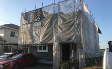 西三河西尾市外壁塗装超低汚染遮熱シリコン塗装モカ屋根塗装高反射遮熱塗装アドグリーンコートクールブラウン足場工事自社施工