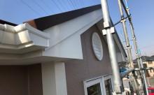 西三河西尾市外壁塗装超低汚染遮熱シリコン塗装モカ屋根塗装高反射遮熱塗装アドグリーンコートクールブラウン施工後破風