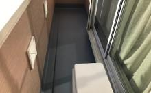 西三河西尾市外壁塗装超低汚染遮熱シリコン塗装モカ屋根塗装高反射遮熱塗装アドグリーンコートクールブラウン施工後ベランダ