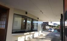 愛知県西三河東三河西尾市店舗外壁塗装屋根塗装外壁耐候性シリコン塗装屋根超低汚染遮熱シリコン塗装ニュートラルホワイト傷み汚れ割れクラック色褪せ欠け施工後軒天