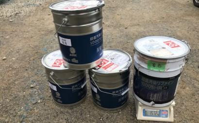 西三河西尾市外壁塗装超低汚染遮熱シリコン塗装モカ外壁上塗り塗料使用前