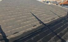 西三河西尾市屋根高反射遮熱塗装アドグリーンコートクールブラウン現状