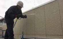 愛知県西三河東三河西尾市外壁塗装超低汚染遮熱シリコン塗装スレートグレー施工写真高圧洗浄
