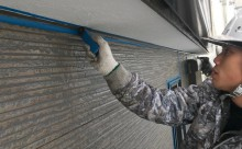 愛知県西三河西尾市外壁無機UVクリヤー塗装施工写真化粧シーリング