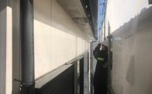 愛知県西三河西尾市外壁塗装超低汚染遮熱シリコン塗装スレートグレー外壁補修浮きクラック施工写真高圧洗浄