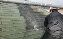 愛知県西三河東三河額田郡幸田町屋根塗装アステックスーパーシャネツサーモFトゥルーブラック施工写真高圧洗浄