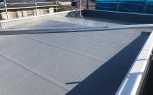 愛知県西三河東三河西尾市屋根屋上防水工事塩ビシート塗装施工写真完成