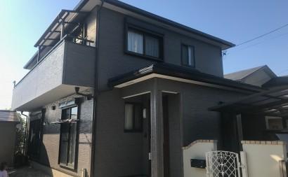 愛知県西三河西尾市外壁無機UVクリヤー塗装屋根葺き替え工事施工後