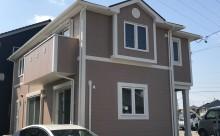 愛知県西三河西尾市外壁塗装超低汚染遮熱シリコン塗装モカ屋根塗装高反射遮熱塗装アドグリーンコートクールブラウン施工後全体