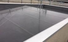 愛知県西三河東三河西尾市屋根屋上防水工事塩ビシート塗装施工写真現状