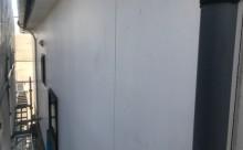 愛知県西三河西尾市外壁塗装超低汚染遮熱シリコン塗装スレートグレー外壁補修浮きクラック施工写真現状