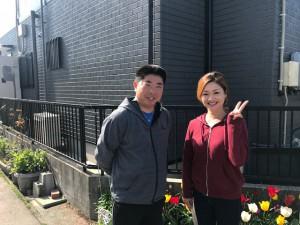 西三河東三河愛知県西尾市外壁超低汚染遮熱シリコン塗装お客様と写真
