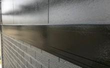 愛知県西三河西尾市外壁塗装超低汚染遮熱シリコン塗装施工後帯板