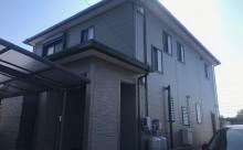 愛知県西三河西尾市外壁無機UVクリヤー塗装屋根葺き替え工事施工写真外観