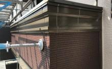 愛知県西三河東三河額田郡幸田町外壁塗装アステック超低汚染無機フッ素カラーボンドベイジュ屋根塗装トゥルーブラック外壁浮き外壁割れ施工写真ベランダ壁