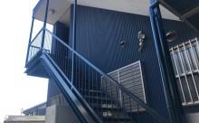 愛知県西三河東三河西尾市屋上防水工事鉄骨階段塗装工事マックスシールド汚れクラックひび割れメンテナンス施工写真鉄骨階段手摺