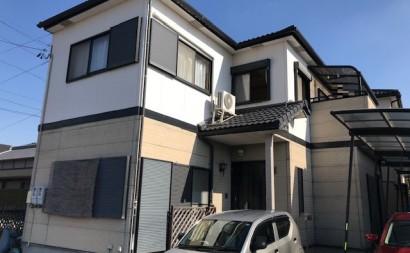愛知県西三河西尾市外壁塗装超低汚染遮熱シリコン外壁補修浮きクラック施工前