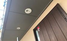 愛知県西三河東三河安城市外壁塗装ガイナ遮熱断熱施工写真軒天