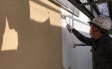 愛知県西三河東三河安城市外壁塗装ガイナ遮熱断熱施工写真下塗り