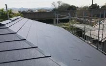 愛知県西三河西尾市外壁無機UVクリヤー塗装屋根葺き替え工事施工写真2F屋根