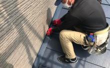 愛知県西三河西尾市外壁無機UVクリヤー塗装葺き替え工事外壁取り合い部