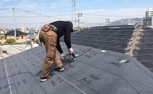 愛知県西三河西尾市外壁無機UVクリヤー塗装葺き替え工事防水シート