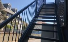 愛知県西三河東三河西尾市屋上防水工事鉄骨階段塗装工事マックスシールド汚れクラックひび割れメンテナンス施工写真鉄骨階段