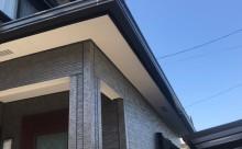 愛知県西三河西尾市外壁無機UVクリヤー塗装屋根葺き替え工事施工写真軒天軒樋