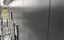 愛知県西三河西尾市外壁塗装超低汚染遮熱シリコン外壁補修浮きクラックアステックリファインSiスレートグレー完成