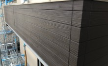 愛知県西三河東三河安城市外壁塗装ガイナ遮熱断熱施工写真アクセント壁