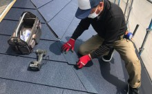 愛知県西三河西尾市外壁無機UVクリヤー塗装葺き替え工事棟部