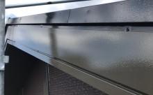 愛知県西三河東三河額田郡幸田町外壁塗装アステック超低汚染無機フッ素カラーボンドベイジュ屋根塗装トゥルーブラック外壁浮き外壁割れ施工写真破風