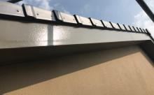 愛知県西三河東三河安城市外壁塗装ガイナ遮熱断熱施工写真破風
