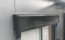 愛知県西三河西尾市外壁塗装超低汚染遮熱シリコン塗装施工後シャッターボックス