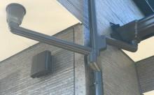 愛知県西三河西尾市外壁無機UVクリヤー塗装屋根葺き替え工事施工写真雨樋