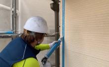愛知県西三河東三河額田郡幸田町外壁塗装アステック超低汚染無機フッ素カラーボンドベイジュ施工写真シーリング