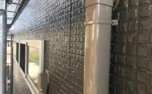 愛知県西三河西尾市外壁塗装超低汚染遮熱シリコン塗装スレートグレー屋上防水施工後スリムダクト