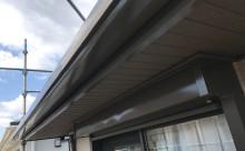 愛知県西三河東三河額田郡幸田町外壁塗装アステック超低汚染無機フッ素カラーボンドベイジュ屋根塗装トゥルーブラック外壁浮き外壁割れ施工写真鼻隠し軒樋