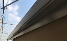 愛知県西三河東三河安城市外壁塗装ガイナ遮熱断熱施工写真鼻隠し軒樋