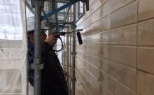 愛知県西三河東三河碧南市外壁塗装アステックシリコン塗装ベージュ剥がれ色褪せ錆高圧洗浄