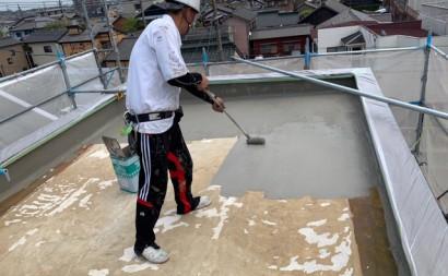愛知県西三河東三河碧南市外壁塗装工事ウレタン防水工事通気緩衝工法雨漏りカチオン下地調整