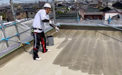 愛知県西三河東三河碧南市外壁塗装工事ウレタン防水工事通気緩衝工法雨漏りウレタンプライマー