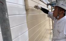 愛知県西三河東三河碧南市外壁塗装アステックシリコン塗装ベージュ剥がれ色褪せ錆中塗り